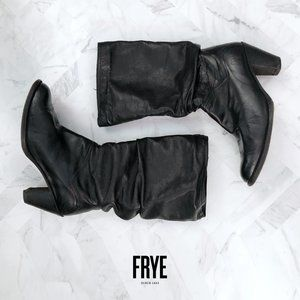 Frye Black Leather Boots Size 7.5M